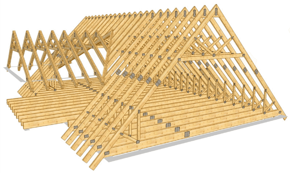 estructura de madera: casa prefabricada