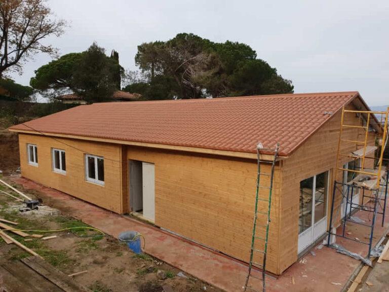 casa prefabricada realizada de madera